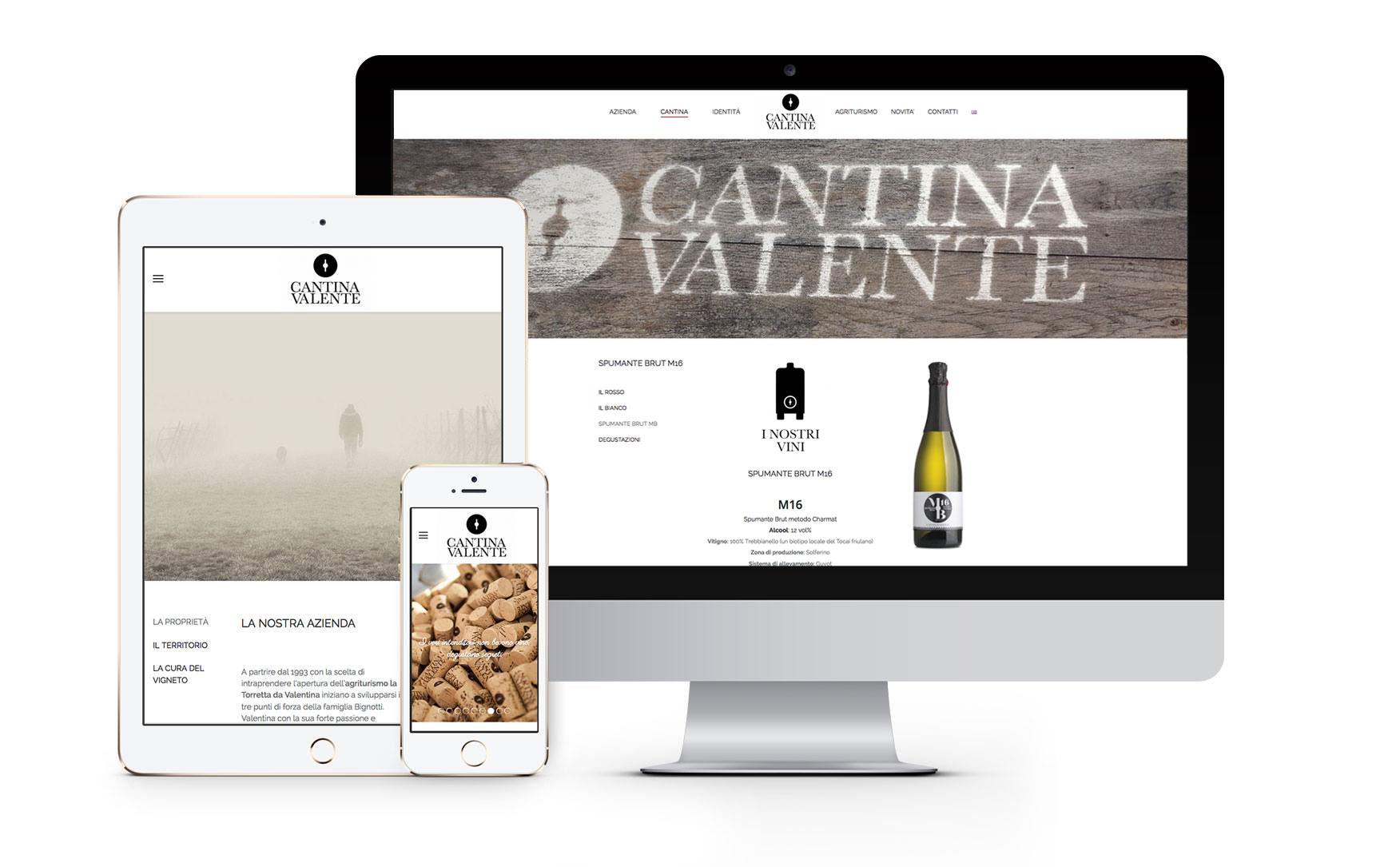 web design cantine vinicole
